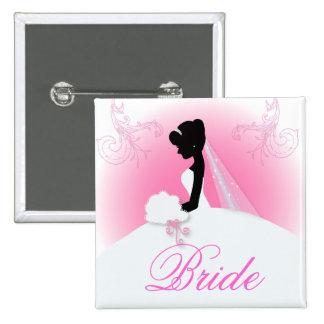 romantic vintage bride silhouette bridal shower button