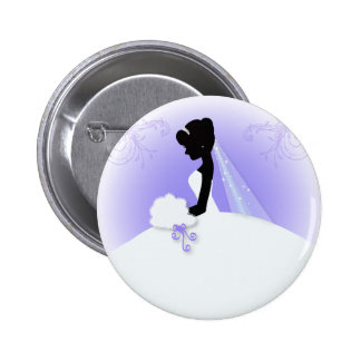 romantic vintage bride silhouette bridal shower button