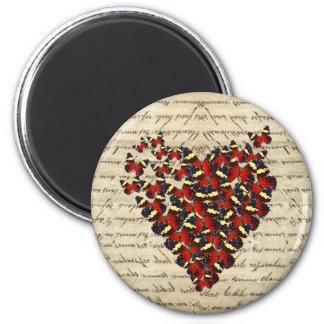 Romantic Vintage butterfies Magnet