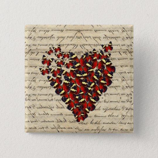 Romantic Vintage butterfies Pinback Button