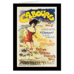 Romantic Vintage Cabourg Travel Holiday Poster Greeting Card