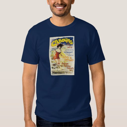 Romantic Vintage Cabourg Travel Holiday Poster T-Shirt