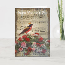 Romantic vintage collage mothers day