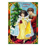 Romantic Vintage Couple Holiday Card
