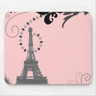 Romantic Vintage eiffel tower Paris Wedding Mouse Pad