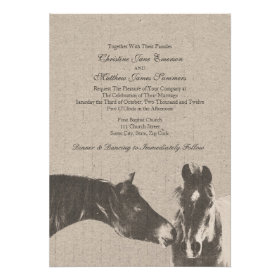 Romantic Vintage Equestrian Wedding Invitations