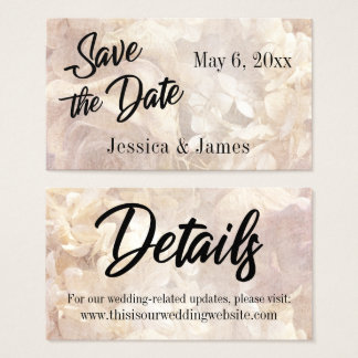 Romantic, Vintage, Floral Save the Date Card