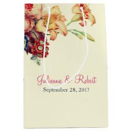 Romantic Vintage Floral Wedding Gift Bag