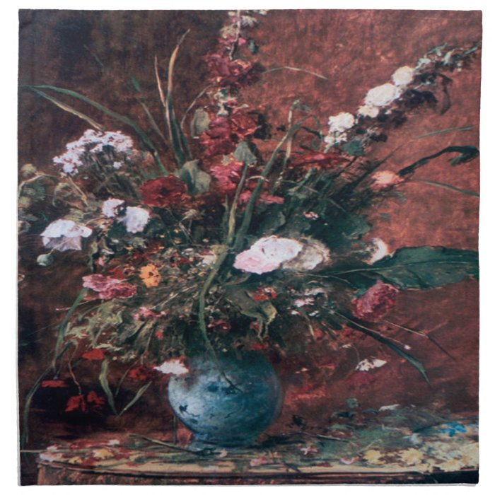 Romantic Vintage Flower Arrangement Napkin