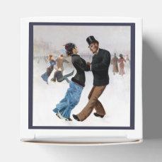 Romantic Vintage Ice Skaters Favor Box