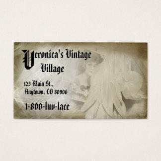 Romantic Vintage Lace Company Business Card