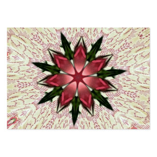 Romantic Vintage Lace Pink Rose Kaleidoscope Large Business Card