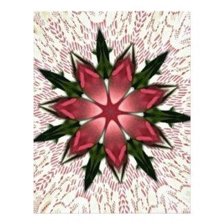 Romantic Vintage Lace Pink Rose Kaleidoscope Letterhead