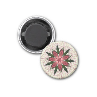 Romantic Vintage Lace Pink Rose Kaleidoscope Refrigerator Magnets