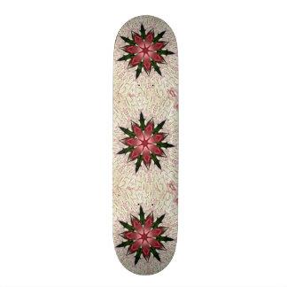 Romantic Vintage Lace Pink Rose Skateboard Deck