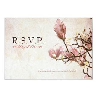 Romantic Vintage Magnolia RSVP Card