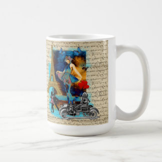 Romantic vintage Paris collage Coffee Mug