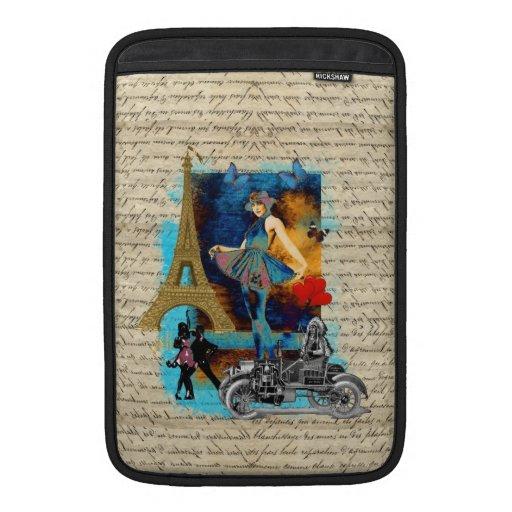 Romantic vintage Paris collage Sleeve For MacBook Air