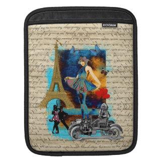 Romantic vintage Paris collage iPad Sleeve
