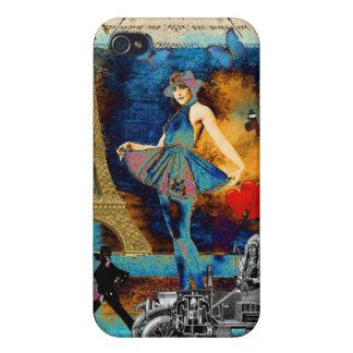 Romantic vintage Paris collage iPhone 4/4S Case