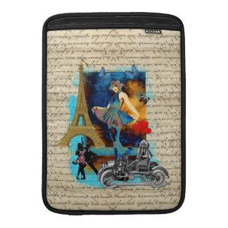 Romantic vintage Paris collage MacBook Sleeve