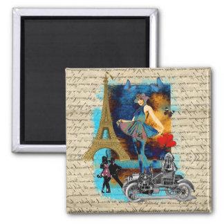 Romantic vintage Paris collage Magnet