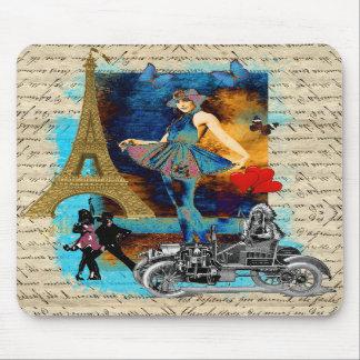 Romantic vintage Paris collage Mouse Pads