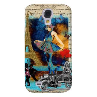 Romantic vintage Paris collage Samsung Galaxy S4 Case
