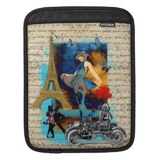 Romantic vintage Paris collage Sleeves For iPads