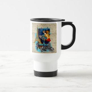 Romantic vintage Paris collage Travel Mug