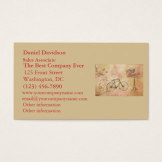 Romantic Vintage Paris in Spring Collage Business Card