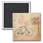 Romantic Vintage Paris in Spring Collage Fridge Magnets