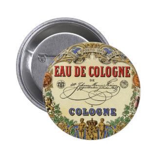 Romantic Vintage Parisian Perfume Label. Pins