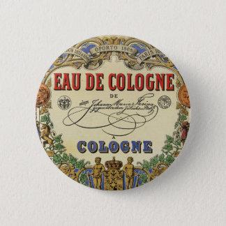 Romantic Vintage Parisian Perfume Label. Pinback Button