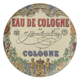 Romantic Vintage Parisian Perfume Label Party Plates