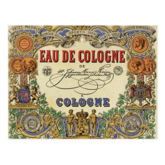 Romantic Vintage Parisian Perfume Label. Postcards