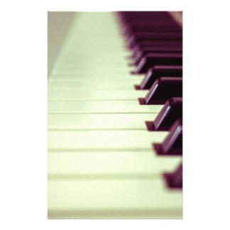 Romantic Vintage Piano Keys Custom Flyers