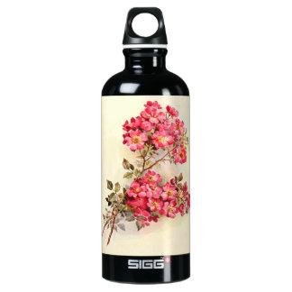 Romantic Vintage Pink Roses Aluminum Water Bottle
