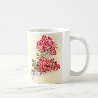 Romantic Vintage Pink Roses Coffee Mug