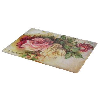 Romantic Vintage Rose Bouquet Cutting Board