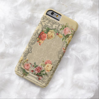 Romantic Vintage Sculpted Roses Barely There iPhone 6 Case