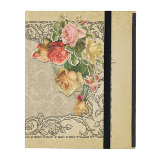 Romantic Vintage Sculpted Roses iPad Cases
