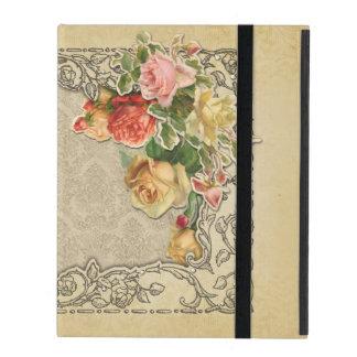Romantic Vintage Sculpted Roses iPad Case