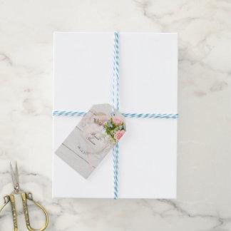 Romantic vintage spring flower editable wedding gift tags