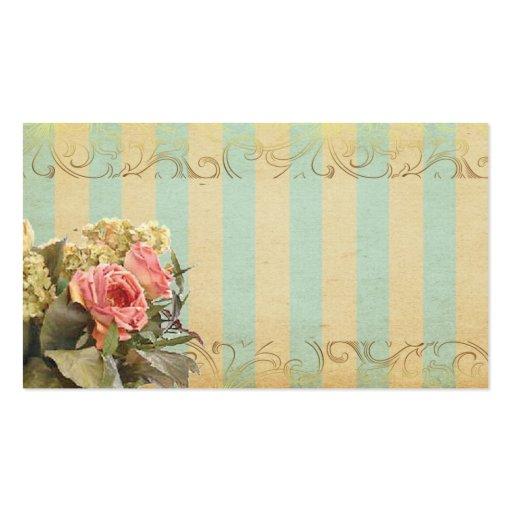 Romantic vintage style business card zazzle for Business cards vintage style