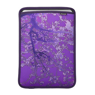 Romantic vintage style lavender cherry blossoms sleeve for MacBook air