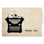 Romantic Vintage Typewriter Stationery Note Card