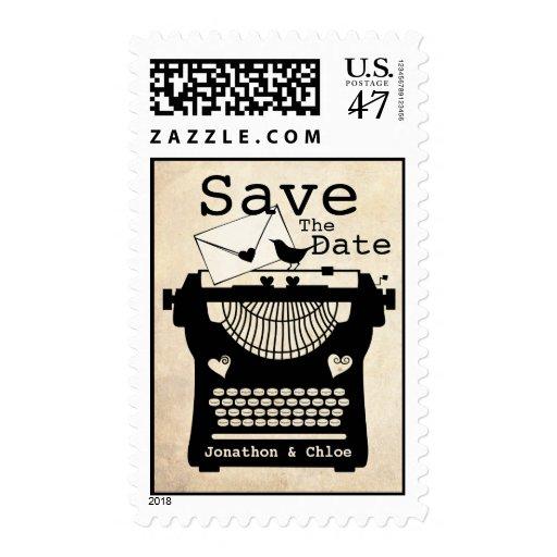 Romantic Vintage Typewriter STD Postage