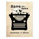 Romantic Vintage Typewriter STD Postcard