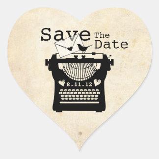 Romantic Vintage Typewriter STD Sticker